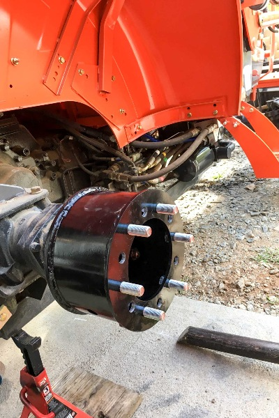What Are Wheel Spacers >> Compact Tractor, Wheel Spacers, Hub Extensions, Kubota RTV ...